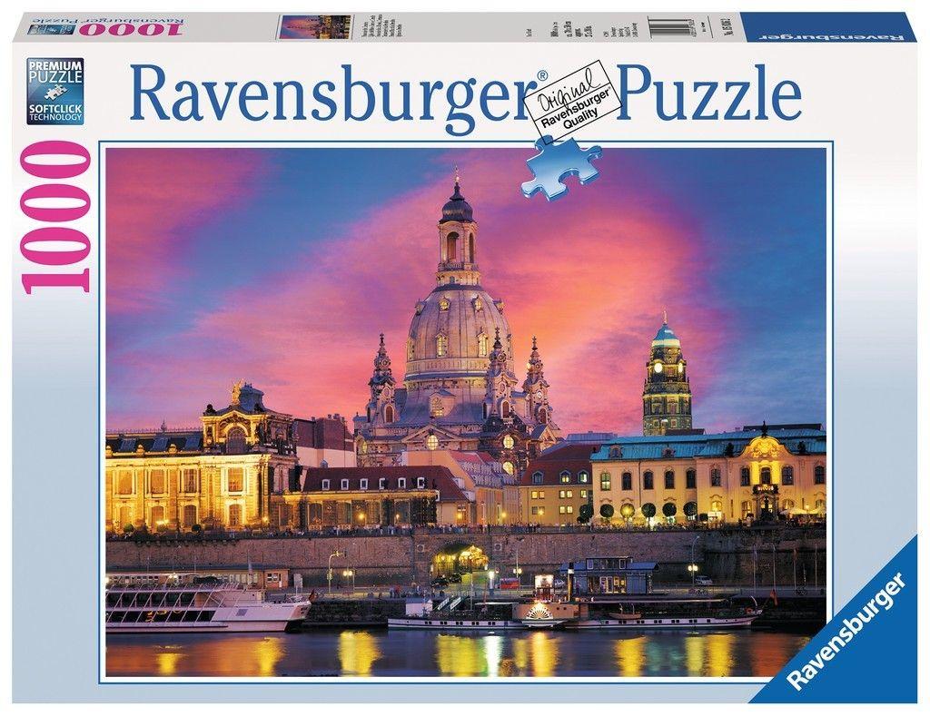 puzzle Ravensburger 1000 dílků - Drážďany 158362