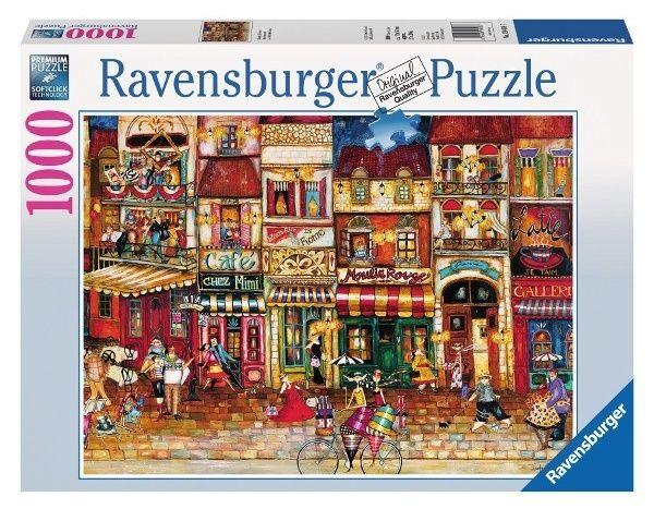 Puzzle Ravensburger 1000 dílků - Francouzská ulice 194087