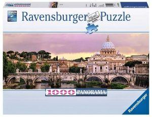 Puzzle Ravensburger 1000 dílků  panorama - Mosty v Římě   150632