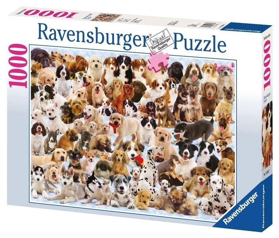 puzzle Ravensburger 1000 dílků - Velká rodina psů 156337