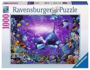 Puzzle  Ravensburger  1000 dílků - Velryby - podvodní svět    194780