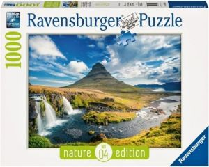 puzzle Ravensburger 1000 dílků -  Vodopád Kirkjufell Island  -  195398