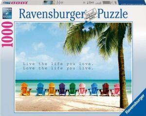 puzzle Ravensburger 1000 dílků - Žij svůj život na plno -  196357