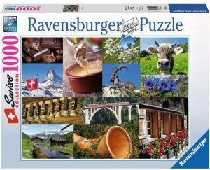 puzzle Ravensburger 1000 dílků -  Znaky Švýcarska   -  195176
