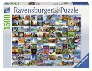 puzzle Ravensburger 1500 dílků  -  99 nádherných míst na Zemi   163199
