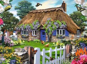 puzzle Ravensburger 1500 dílků  -  Venkovský dům v Anglii   162970