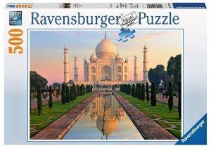 puzzle Ravensburger 500 dílků - Taj Mahal  145348