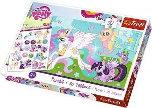 Puzzle Trefl 50 dílků + 20 tetovaček - MLP - My Little Pony  90555