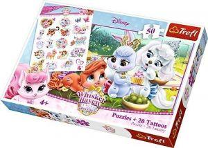 Puzzle Trefl 50 dílků + 20 tetovaček - Palace Pets  90556