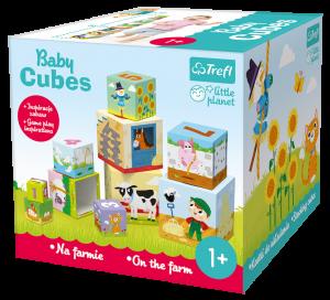 Trefl Baby Cubes puzzle - farma 60468