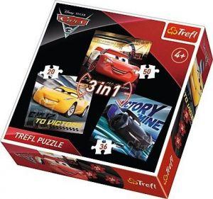 TREFL Puzzle  3v1 -  20 36 50 dílků CARS 3  34820