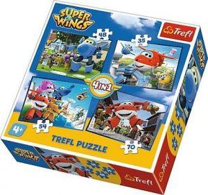 35, 48, 54 a 70  dílků - 4 v 1 -  Super Wings    -  puzzle   Trefl 34280