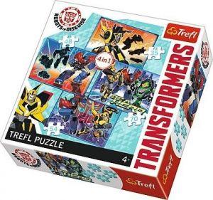 35, 48, 54 a 70  dílků -  4 v 1 -  Transformers    -  puzzle   Trefl 34287