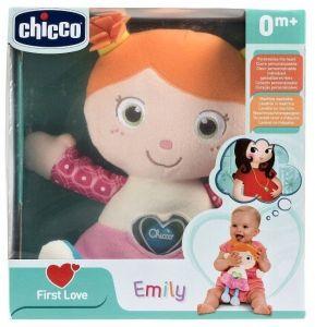 Chicco - First Love -  Chicco panenka Emily   s chrastítkem