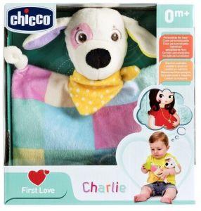 Chicco - First Love -  Chicco pejsek  Charlie s dečkou a chrastítkem