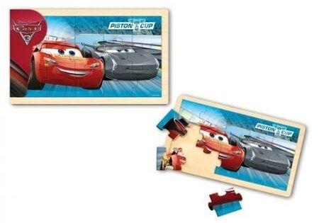 Dřevěné puzzle 15 dílků 30 x 18 cm - CARS - Auta 3 Playme - Brimarex