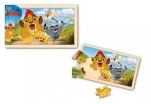 Dřevěné puzzle  15 dílků  30 x 18 cm - Lví hlídka