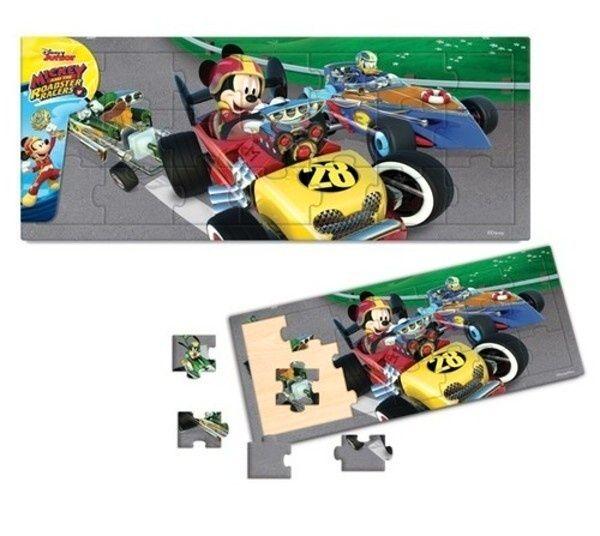 Dřevěné puzzle PLAYME - Mickey - Roadster 21 dílků Playme - Brimarex