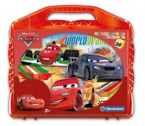 Obrázkové kostky v kufříku 24 ks - CARS - Auta - Kubus Clementoni   42447