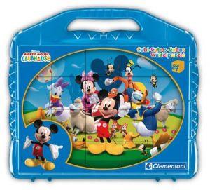 Obrázkové kostky v kufříku 24 ks - Mickey Mouse - Kubus Clementoni   42495