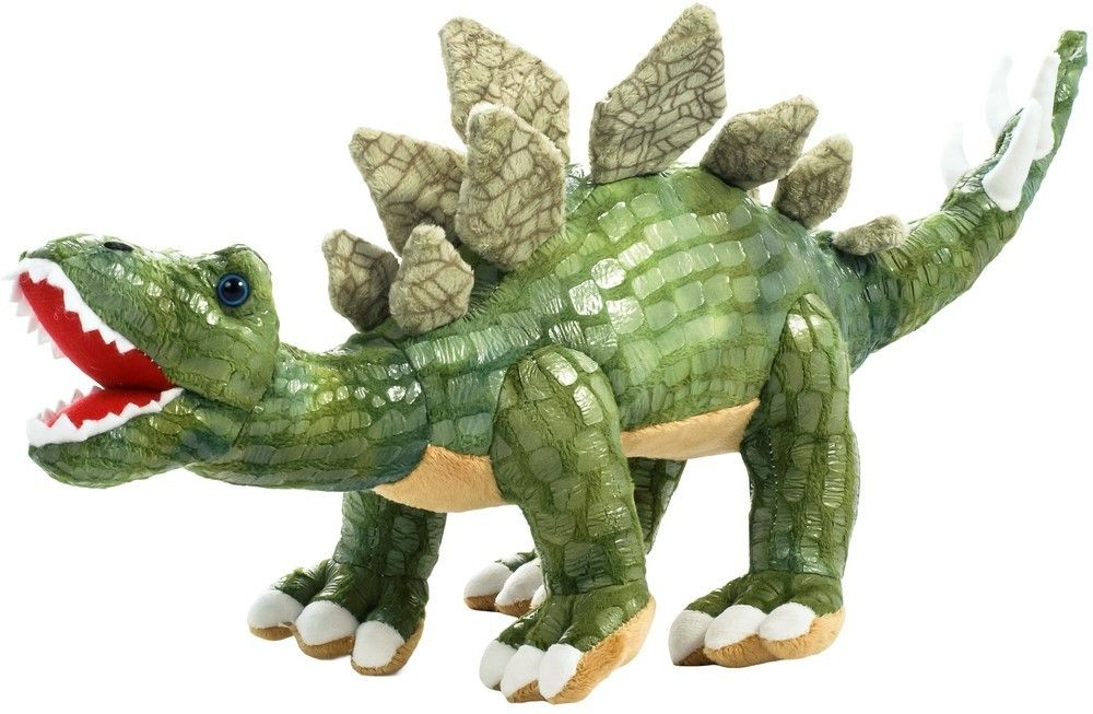 Plyšový dinosaurus - Stegosaurus tmavě zelený 43 cm plyšák 12954 BEPPE