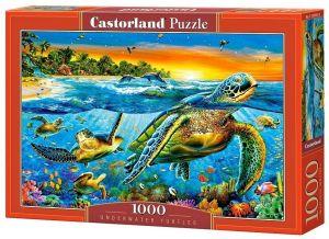 Puzzle Castorland  1000 dílků -  Želvy v moři  103652