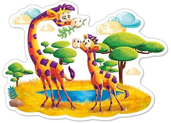 Puzzle Castorland 12 dílků MAXI - žirafy na savaně 120178