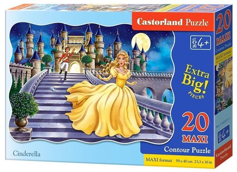 Puzzle Castorland 20 dílků podlahové - MAXI - Popelka 02351