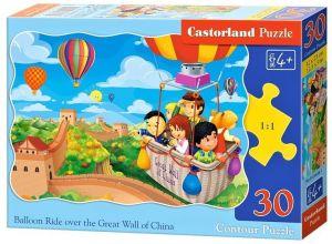 puzzle Castorland  30 dílků  - Výlet balónem - 03648