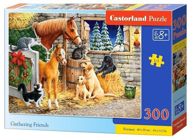 Puzzle Castorland 300 dílků - zvířecí kamarádi 030255