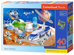 Puzzle Castorland 40 dílků MAXI - Na vesmírné stanici 040230