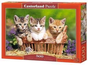 Puzzle Castorland 500 dílků - kočičky v košíku   52561