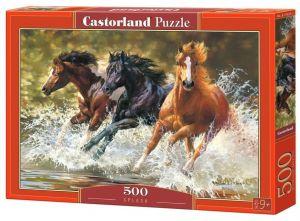 Puzzle Castorland 500 dílků - koně   52585