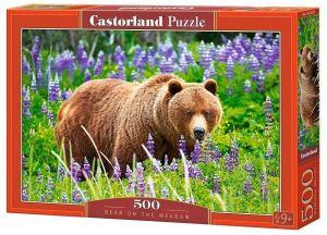 Puzzle Castorland 500 dílků - medvěd na louce   52677