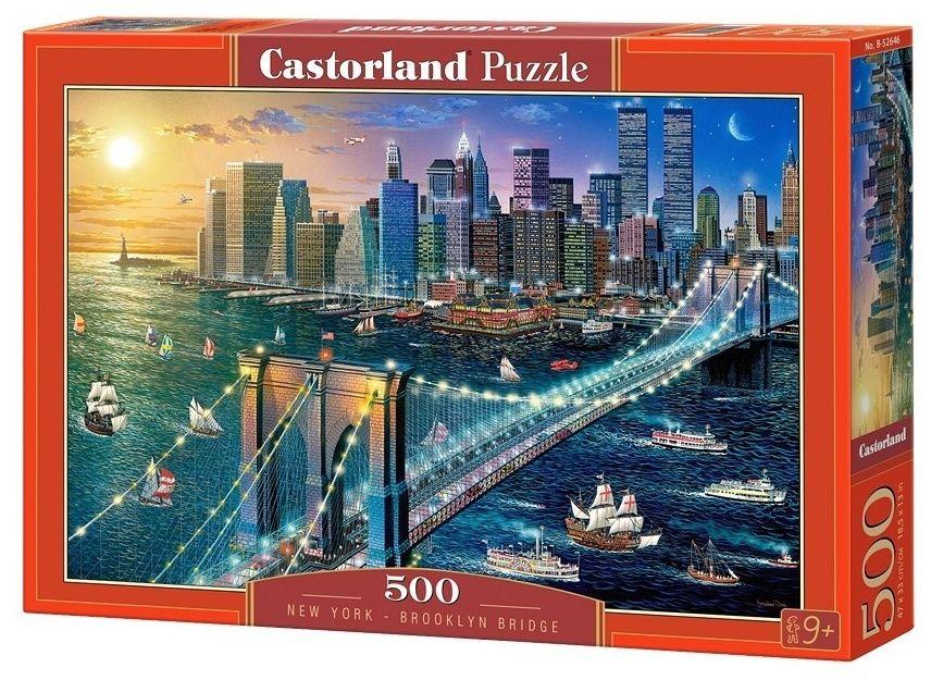 Puzzle Castorland 500 dílků - New York - Brooklynský most 52646