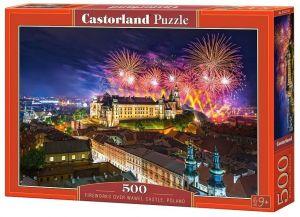 Puzzle Castorland 500 dílků - Ohňostroj nad Wawelem   52721