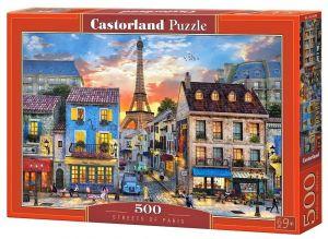 Puzzle Castorland 500 dílků - ulička Paříže   52684