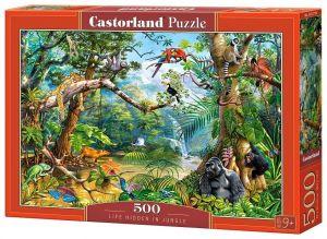 Puzzle Castorland 500 dílků - Život ukrytý v džungli   52776