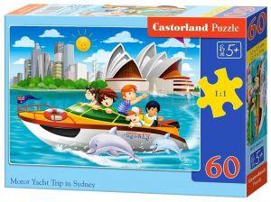 Puzzle Castorland 60 dílků - Projížďka motorovým člunem v Sydney - 066025