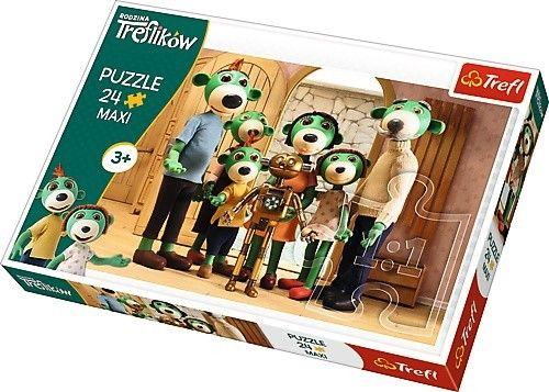 Puzzle Trefl 24 MAXI dílků - Rodina Treflíků - rodinný portrét 14254
