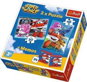 Puzzle Trefl  30 + 48 dílků + hra Memos ( pexeso ) Super Wings 90635