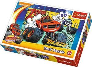 Puzzle  Trefl  60 dílků  - Blaze - co je to za tým - Trefl 17305