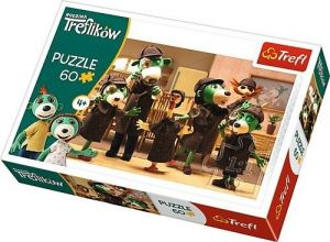 Puzzle  Trefl  - 60 dílků  - Rodina Treflíků - na stopě  - Trefl 17308