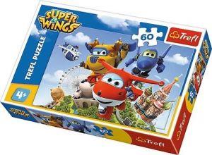 Puzzle  Trefl  60 dílků  - Super Wings - let kolem světa - Trefl 17307