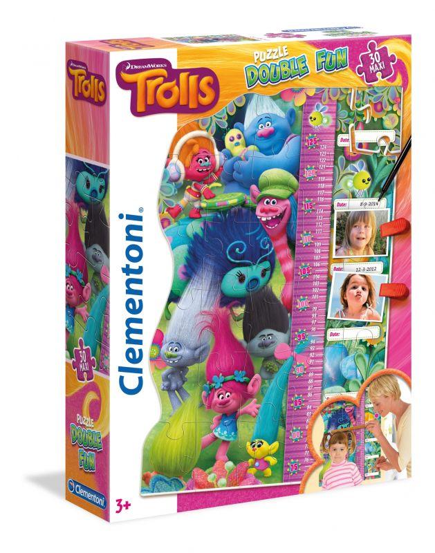 Růstový metr Clementoni 30 dílků - Trollové 20318