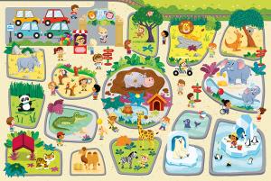 Trefl CIGA  puzzle 12 dílků - v  ZOO  90590