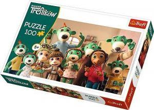 Trefl Puzzle 100 dílků - rodinné foto Treflíků -  16324