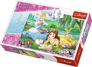 Trefl puzzle  30 dílků  - Disney princezny - Bella a Popelka  - 18223