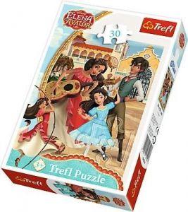Trefl puzzle  30 dílků  - Elena z Avaloru - přátelé navždy  - 18224