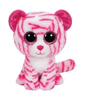 TY Beanie Boos - Asia - růžový tygřík 36180 - 15 cm plyšák
